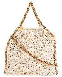 Stella McCartney Falabella mini di cotone crochet - Bianco