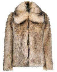 Paco Rabanne Faux Fur Jacket - Brown