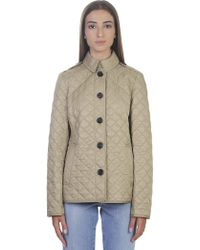 Burberry - Quilted Beige Ashurst Jacket - Lyst