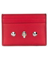 Alexander McQueen Skull Card Holder - Red