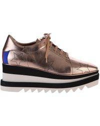 Stella McCartney | Elyse Metallic Faux Leather Sneakers | Lyst