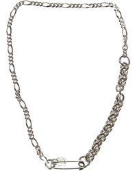 Valentino - Silver Metal Necklace - Lyst