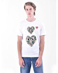 COMME DES GARÇONS PLAY T-shirt con stampa - Bianco