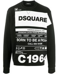 DSquared² Black Cool Fit Logo Graphic Sweatshirt