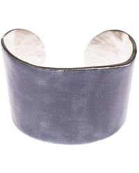 LITTLE WOMAN PARIS | Metal And Resin Bangle | Lyst