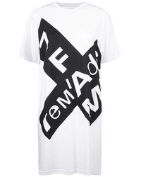 7 For All Mankind Abito T-shirt over - Bianco
