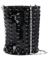 Paco Rabanne Iconic 1969 Floral Bucket Bag - Black