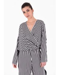 FEDERICA TOSI - Striped Silk Blouse - Lyst
