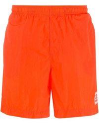 C P Company Shell Swim Shorts - Orange