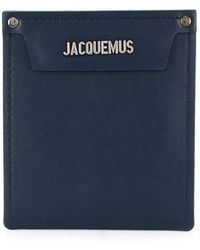 Jacquemus Logo Insert Leather Pouch - Blue