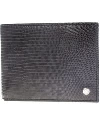 Orciani   Black Textured Leather Wallet   Lyst