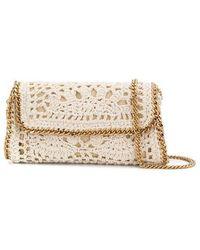 Stella McCartney Borsa di cotone crochet - Bianco