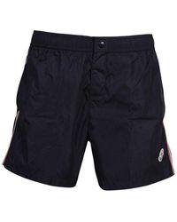 Moncler Shorts mare di nylon - Nero