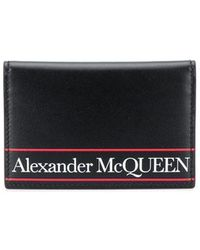 Alexander McQueen Portacarte con logo - Nero