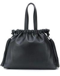 The Attico Leather Bag - Black