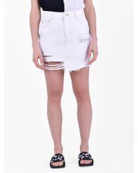 SJYP - Destroyed Denim Skirt - Lyst