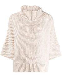 Fabiana Filippi Virgin Wool Blend Jumper - White