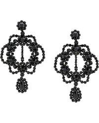 Simone Rocha Crystal Earrings - Black