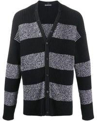 Balenciaga Cardigan con righe - Nero