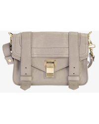 Proenza Schouler Mini Ps1 Leather Crossbody Bag - Natural