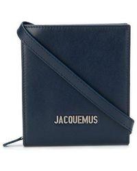 Jacquemus Borsa di pelle con logo - Blu