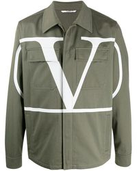 Valentino Vlogo Print Jacket - Green