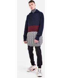 Balenciaga Virgin Wool Jumper - Blue