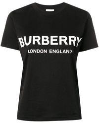 Burberry T-shirt a maniche corte con stampa - Nero