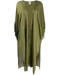 L'Autre Chose Fringed Cotton Caftan - Green