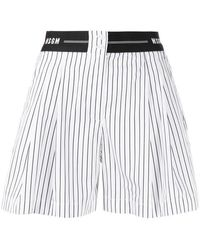 MSGM Shorts a righe - Bianco