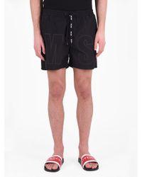 MSGM - Cotton Blend Swim Shorts - Lyst