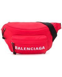 Balenciaga Marsupio di tela con logo - Rosso