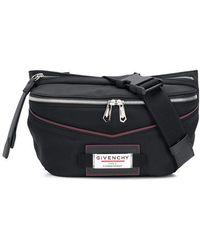 Givenchy Logo Insert Nylon Belt Bag - Black
