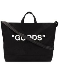 Off-White c/o Virgil Abloh Printed Canvas Tote Bag - Black