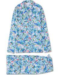Derek Rose Pajamas Ledbury 20 Cotton Batiste White