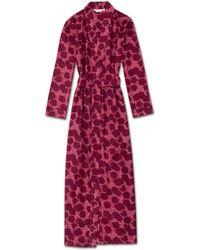 Derek Rose Full Length Dressing Gown Ledbury 33 Cotton Batiste Pink