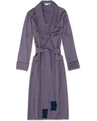 Derek Rose Tasseled Belt Dressing Gown Brindisi 37 Pure Silk Satin Red