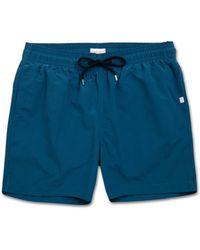 Derek Rose Classic Fit Swim Shorts Aruba Ocean - Blue