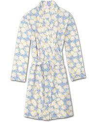 Derek Rose Dressing Gown Ledbury 33 Cotton Batiste - White