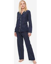 Derek Rose Pyjamas Plaza 60 Cotton Batiste - Blue