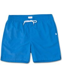 Derek Rose Classic Fit Swim Shorts Aruba Blue