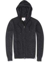 Derek Rose Cashmere Hoodie Finley Pure Cashmere Charcoal - Gray