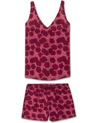 Derek Rose Cami Short Pajama Set Ledbury 33 Cotton Batiste Pink