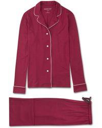 Derek Rose Jersey Pyjamas Lara Micro Modal Stretch Crimson - Red