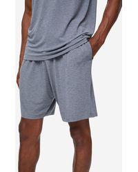 Derek Rose Lounge Shorts Marlowe Micro Modal Stretch - Grey