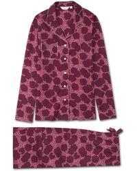 Derek Rose Pajamas Ledbury 33 Cotton Batiste Pink