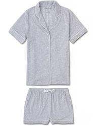 Derek Rose Jersey Shortie Pajamas Ethan Micro Modal Stretch - Metallic