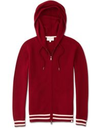 Derek Rose Cashmere Hoodie Felix 2 Pure Cashmere Red
