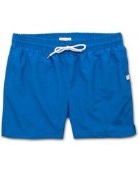 Derek Rose Short Classic Fit Swim Shorts Aruba Blue