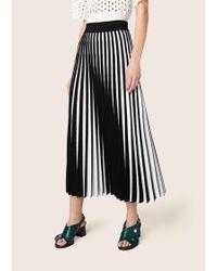 Derek Lam - Pleated Stripe Skirt - Lyst